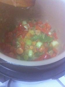 Las verduras van tomando forma